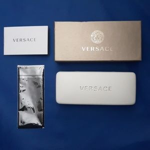 Versace White Glasses Case